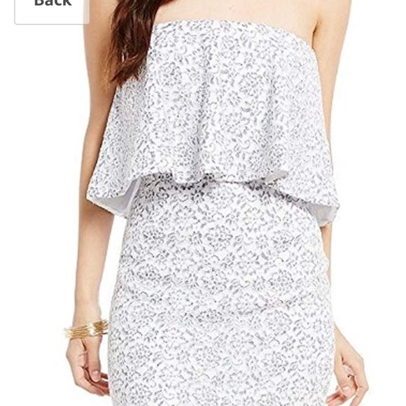 76aa0123a6077 Gianni Bini floral Lace strapless dress NWT